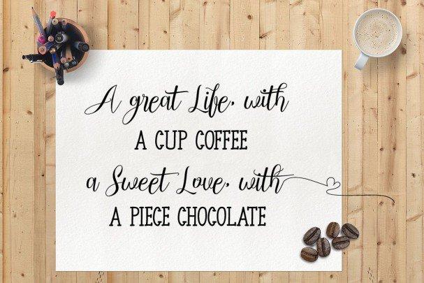 Chocolate Milky - Font Duo шрифт скачать бесплатно