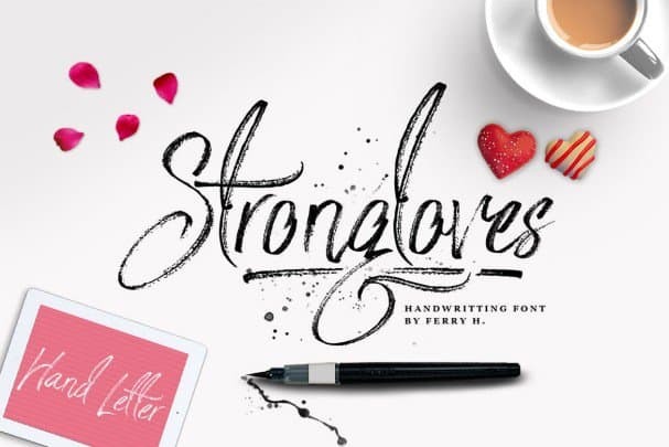 Strongloves - Handwritting Font шрифт скачать бесплатно
