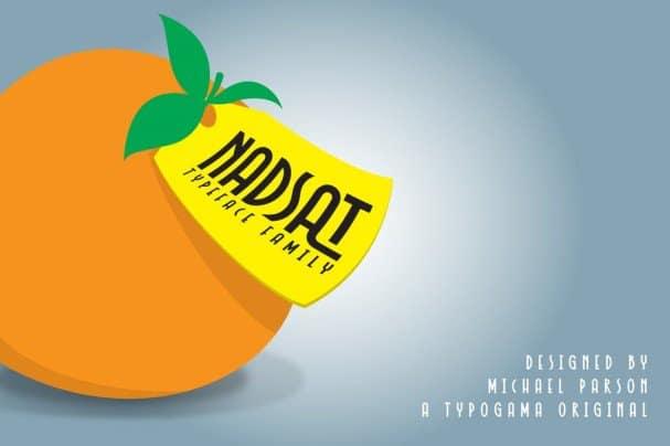Nadsat шрифт скачать бесплатно