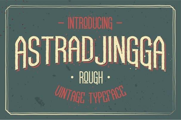 Astradjingga Rough шрифт скачать бесплатно