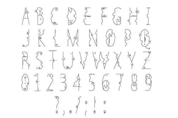 Line Flat font + line flat icon шрифт скачать бесплатно