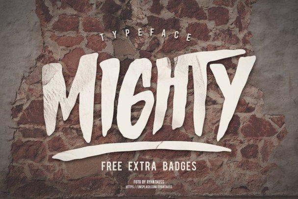 Mighty Typeface шрифт скачать бесплатно
