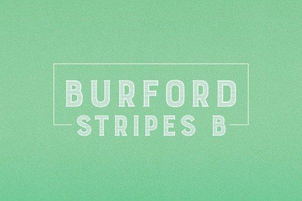 Burford Stripes B шрифт скачать бесплатно