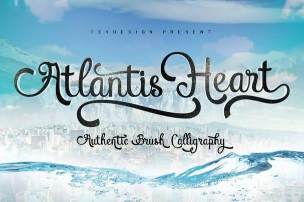Atlantis Heart Font шрифт скачать бесплатно