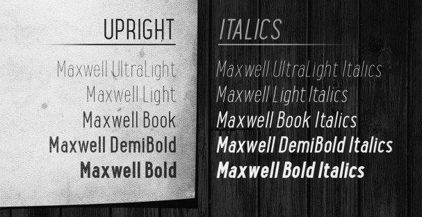 Maxwell Sans Light шрифт скачать бесплатно