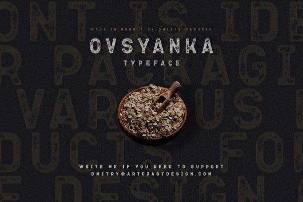 Ovsyanka Typeface шрифт скачать бесплатно