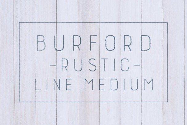 Burford Rustic Line Medium шрифт скачать бесплатно