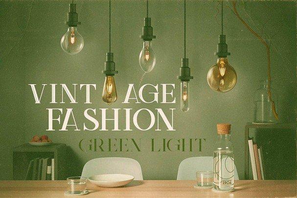 Green Light - Vintage Style шрифт скачать бесплатно