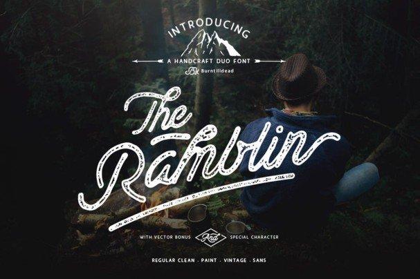 Ramblin   Duo шрифт скачать бесплатно
