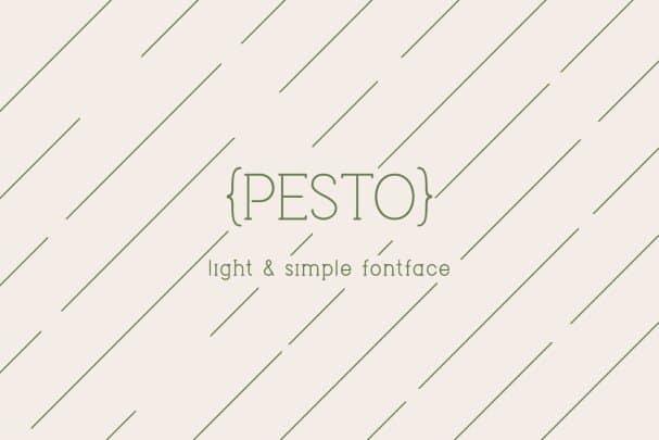 Pesto шрифт скачать бесплатно
