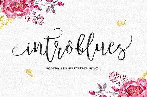 Introblues Script шрифт скачать бесплатно