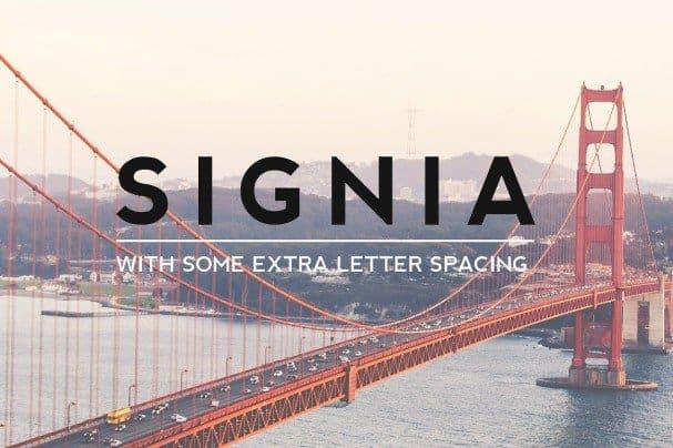 SIGNIA Pro Modern Typeface + WebFont шрифт скачать бесплатно