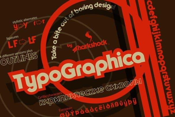 TypoGraphica шрифт скачать бесплатно