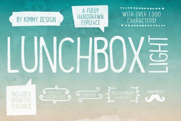 Lunchbox Light шрифт скачать бесплатно