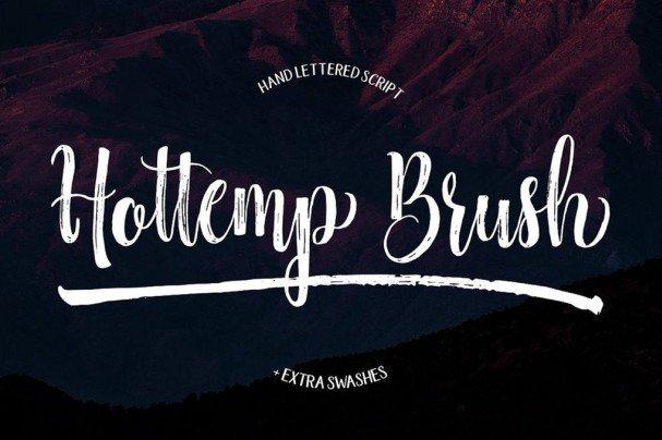 Hottemp Brush шрифт скачать бесплатно