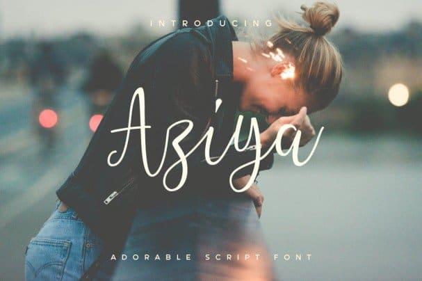 Aziya шрифт скачать бесплатно
