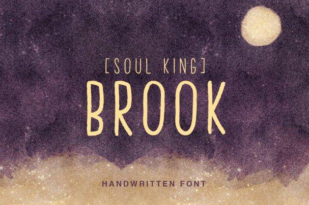 Brook Handwritten Font шрифт скачать бесплатно