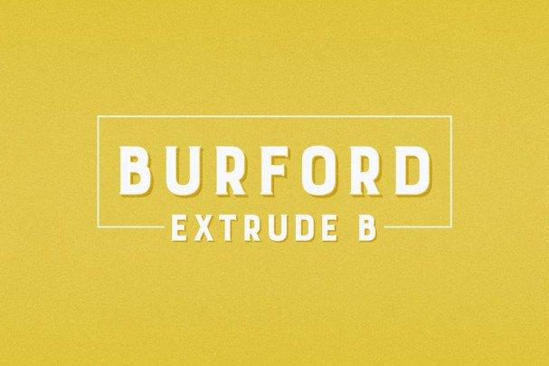 Burford Extrude B шрифт скачать бесплатно
