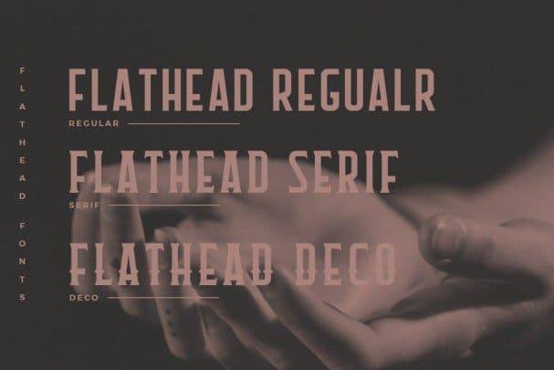 Flathead Round Typeface шрифт скачать бесплатно