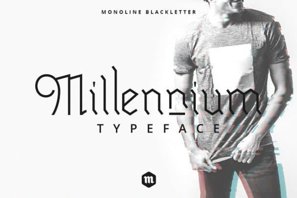 Millennium шрифт скачать бесплатно