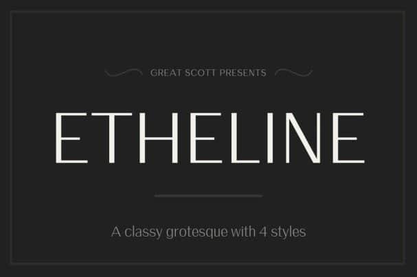 Etheline шрифт скачать бесплатно