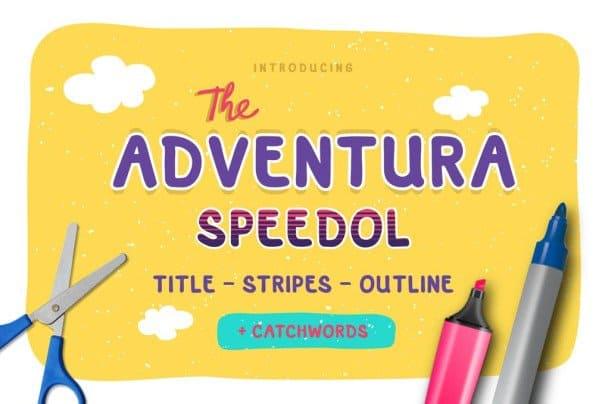 Adventura Speedol шрифт скачать бесплатно