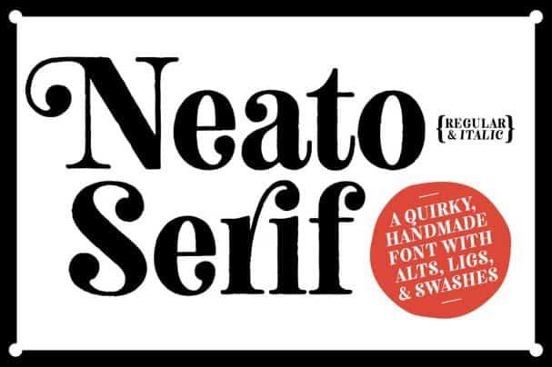 Neato Serif Font Family шрифт скачать бесплатно