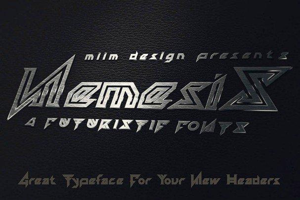 Nemesis - Futuristic Font шрифт скачать бесплатно