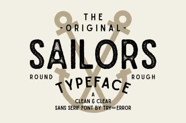 Sailors шрифт скачать бесплатно