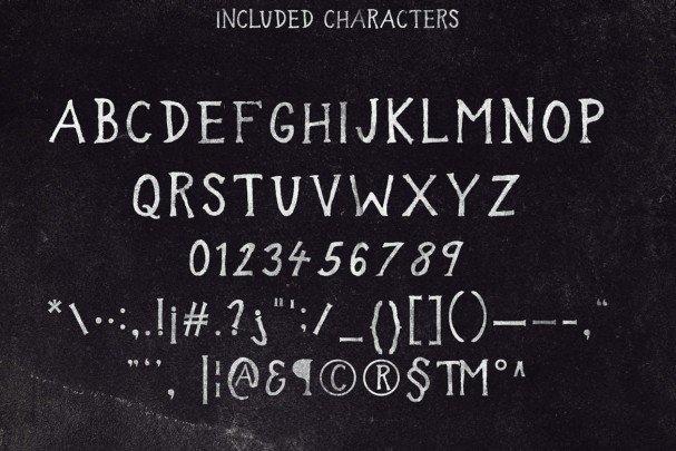 In the wood font шрифт скачать бесплатно