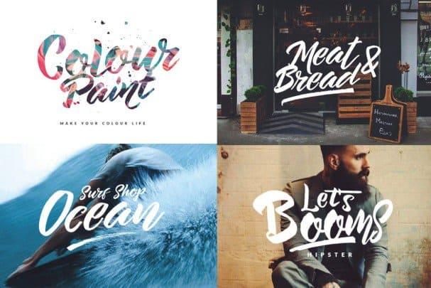 The Beard - Branded Typeface +Extras шрифт скачать бесплатно