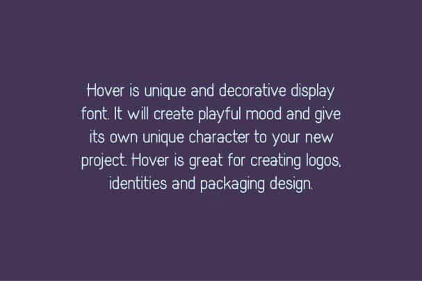 Hover Classic Extended Font шрифт скачать бесплатно