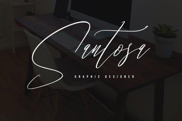 Santashoes Typeface шрифт скачать бесплатно