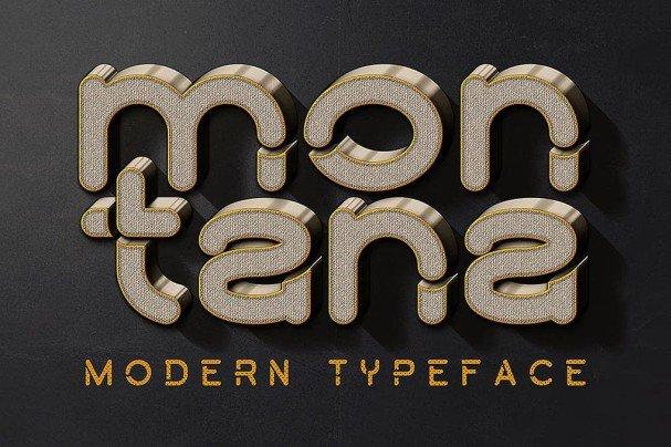 Montana Font шрифт скачать бесплатно