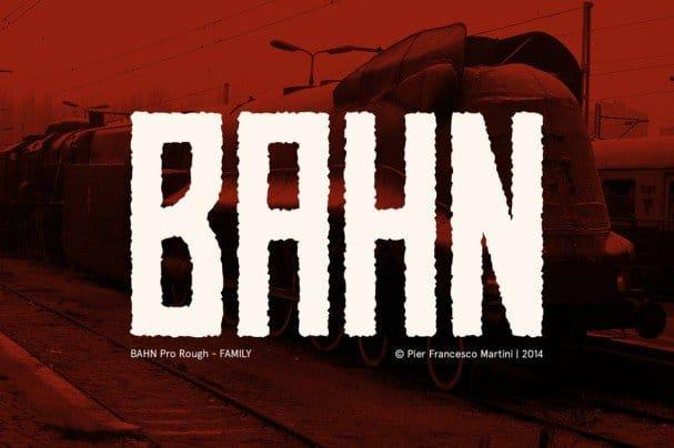 BAHN Pro Rough - FAMILY шрифт скачать бесплатно