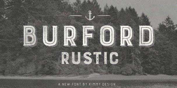 Burford Rustic Book Bold шрифт скачать бесплатно