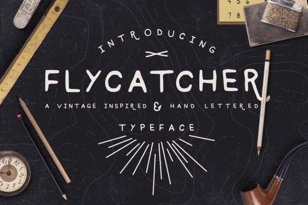 Flycatcher Font шрифт скачать бесплатно