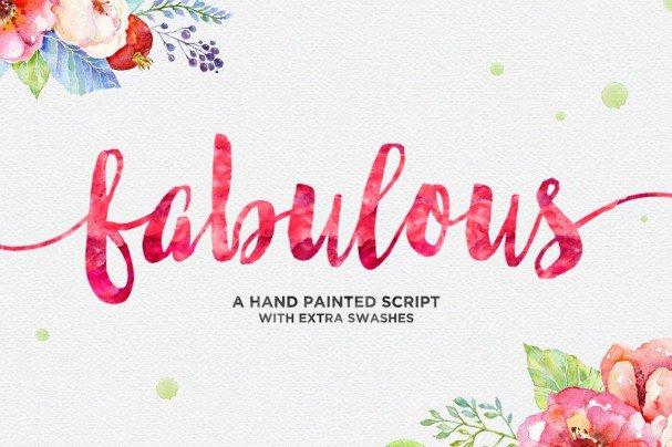 Fabulous Script шрифт скачать бесплатно