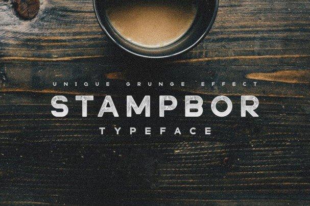 Stampbor Typeface шрифт скачать бесплатно