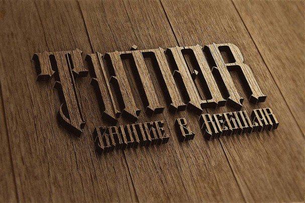 Timor - Vintage Style Font шрифт скачать бесплатно