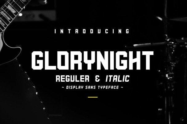 Glorynight шрифт скачать бесплатно