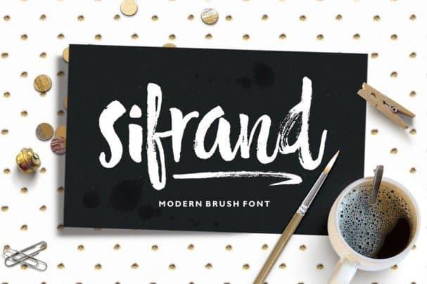 Sifrand Script шрифт скачать бесплатно