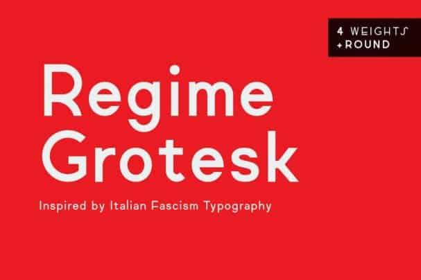 Regime Grotesk шрифт скачать бесплатно