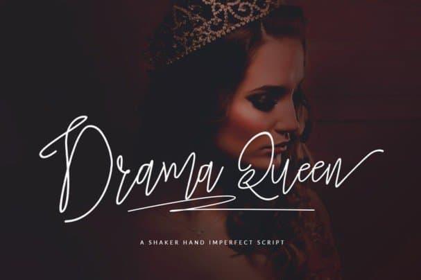 Drama Queen Script шрифт скачать бесплатно