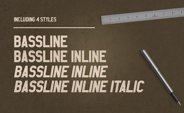 Bassline шрифт скачать бесплатно
