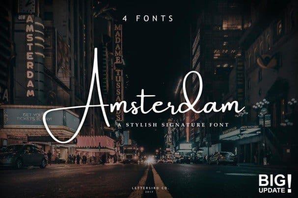 Amsterdam   Collection шрифт скачать бесплатно