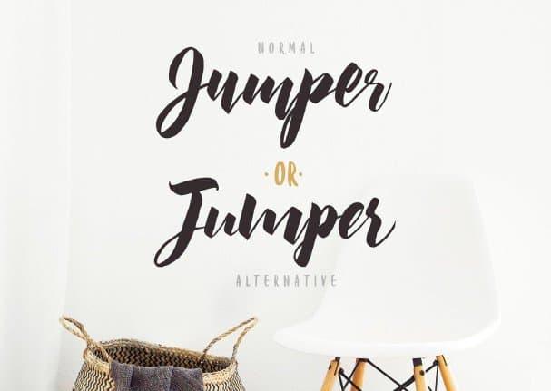 Jumper Script s шрифт скачать бесплатно