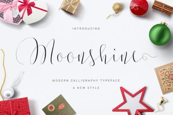 Moonshine Script шрифт скачать бесплатно