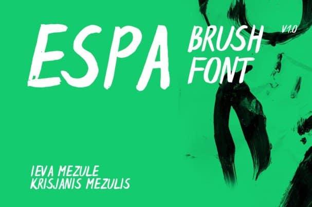 Espa Brush   шрифт скачать бесплатно