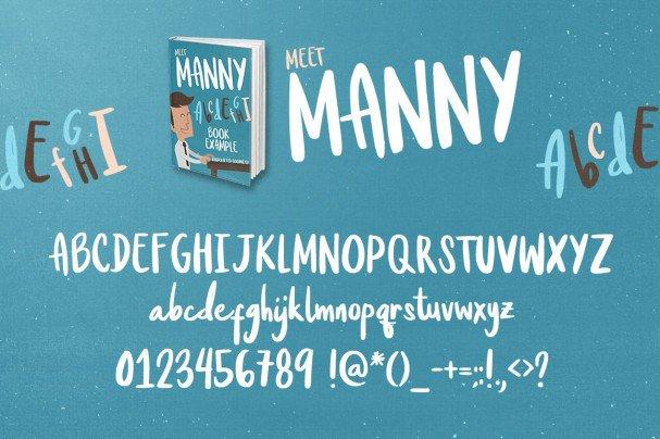 Meet Manny Typeface шрифт скачать бесплатно